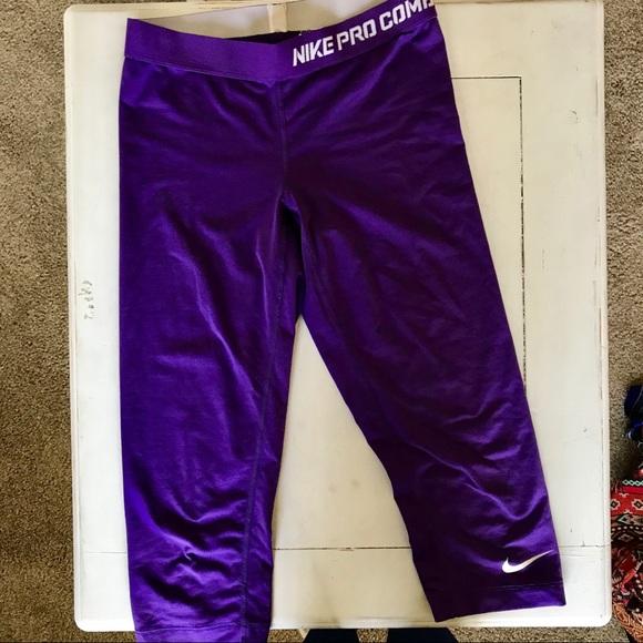 Compression Cropped Purple Purple Cropped Nike Nike Compression Leggings Purple Leggings Nike 80wkXnOP